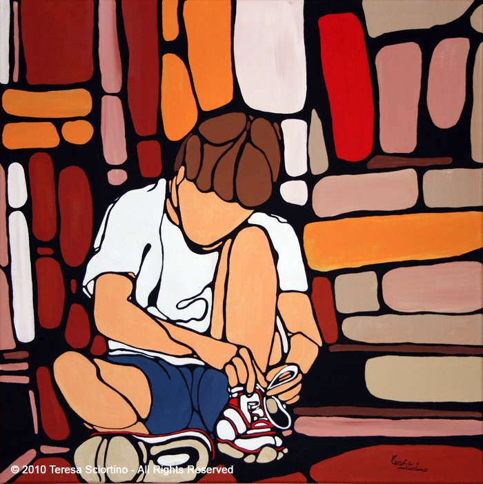 0113-Andrea-si-allaccia-le-scarpe-70-x-70-(2010---AST)
